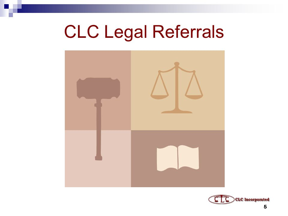 5 CLC Legal Referrals