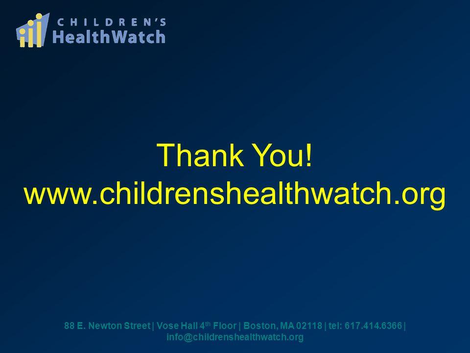 Thank You. www.childrenshealthwatch.org 88 E.