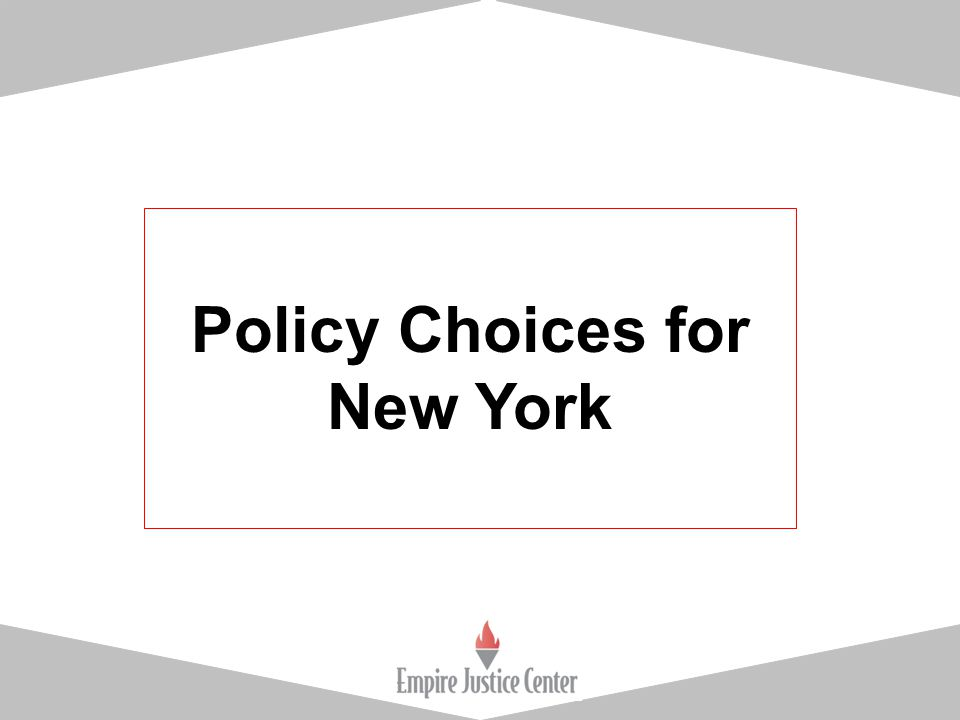 Policy Choices for New York