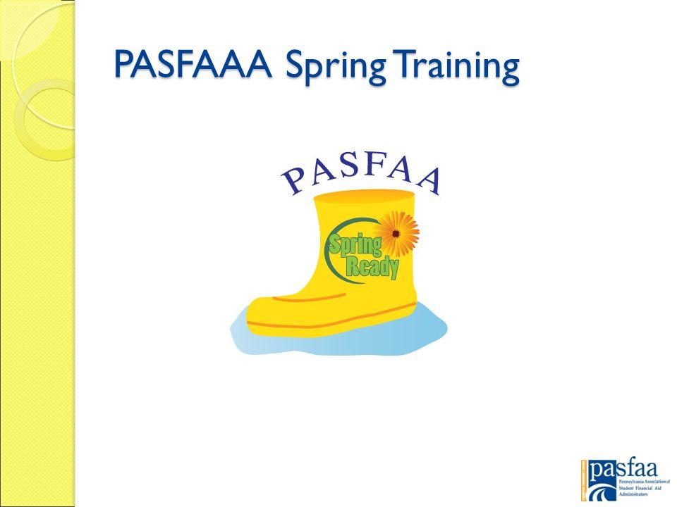 PASFAAA Spring Training