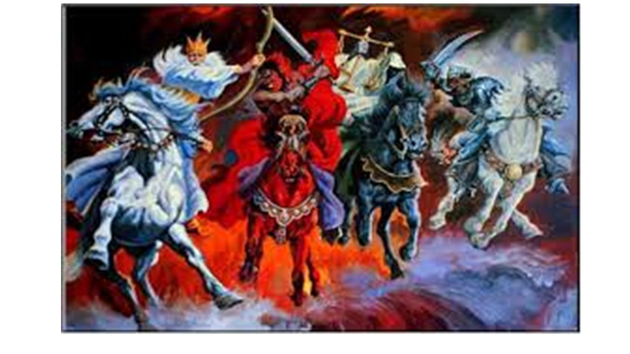 Revelation chapter 6. 7 When the Lamb broke the fourth seal, I heard the voice of the fourth living creature saying, Come. 8 I looked, and behold, an ashen horse; and he who sat on it had the name Death; and Hades was following with him.