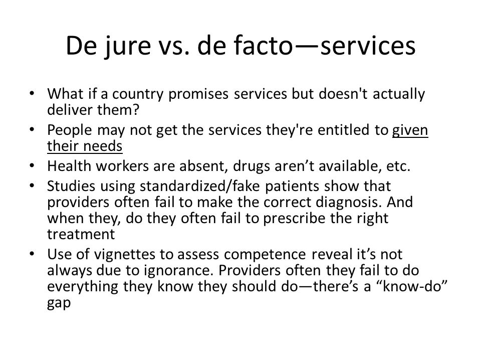 De jure vs.