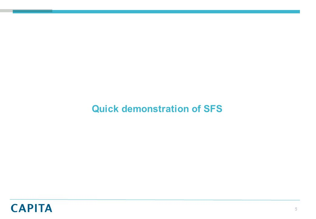 Quick demonstration of SFS 5