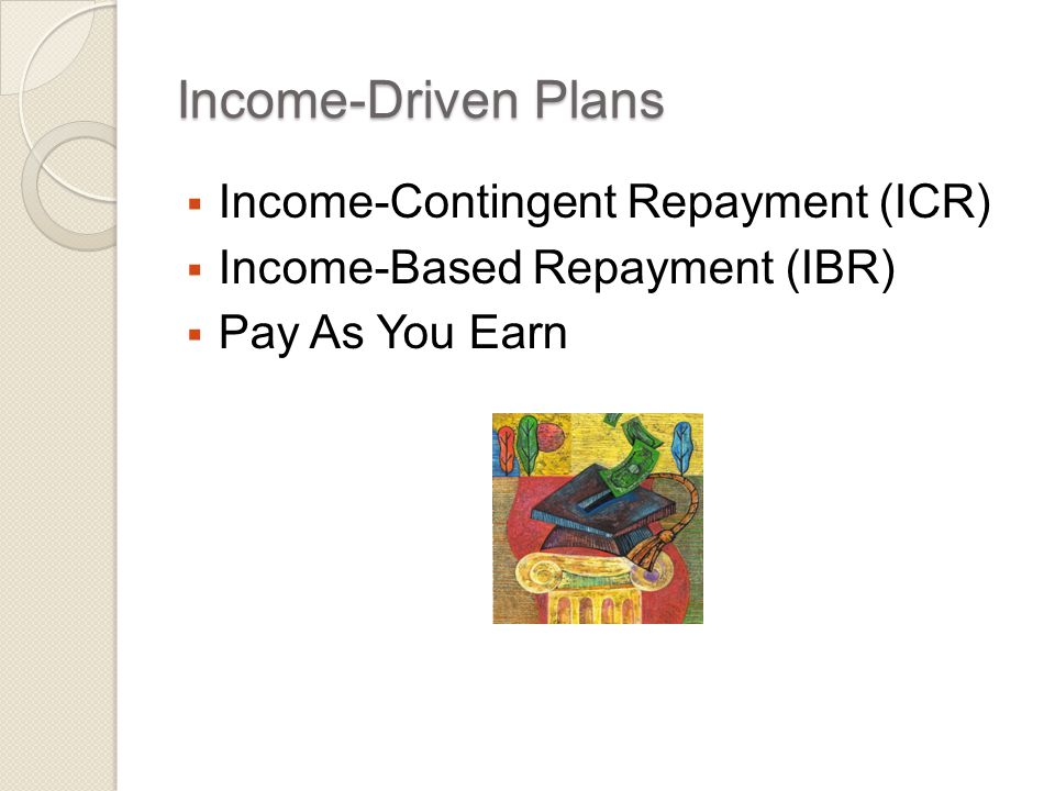 Recap of IBR Payment Amount  Under IBR, borrowers pay the lesser of:  15% of discretionary income (income- based payments) or  What they would have paid under the 10- year standard repayment plan (non- income-based payments)