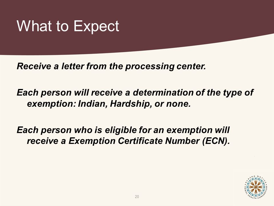 What to Expect Receive a letter from the processing center.