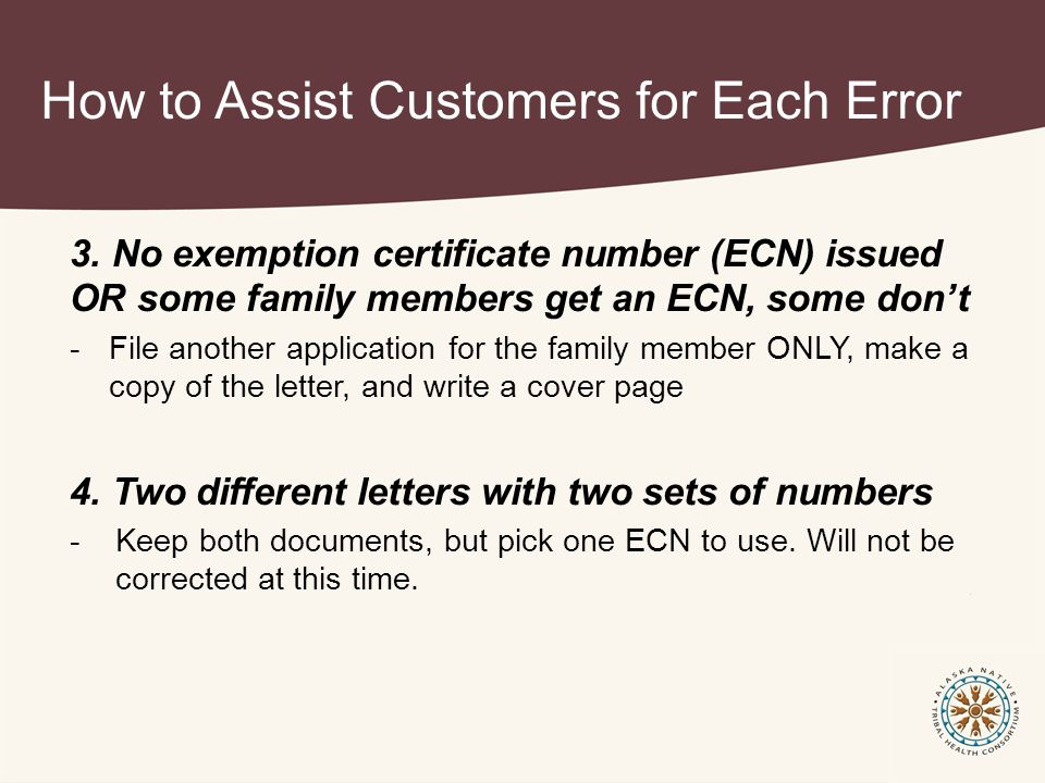How to Assist Customers for Each Error 3.