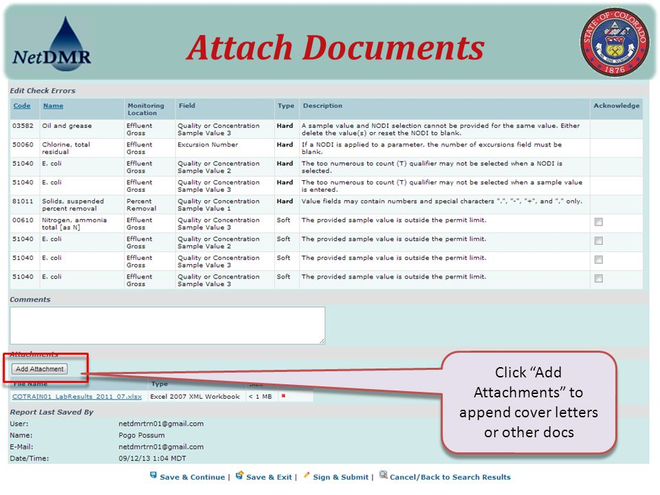 """Attach Documents Click """"Add Attachments"""" to append cover letters or other docs"""