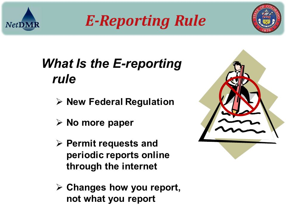 E-Reporting Rule Why do we need it.