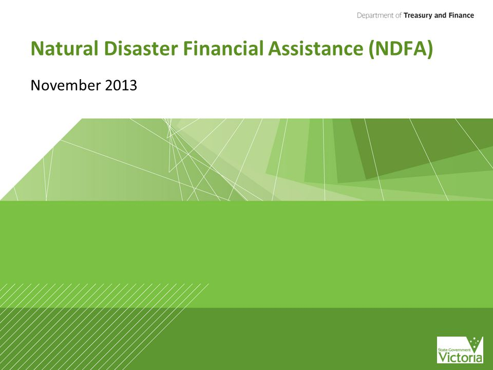 Natural Disaster Financial Assistance (NDFA) November 2013