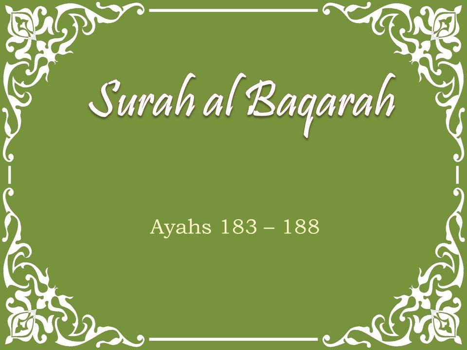 Ayahs 183 – 188