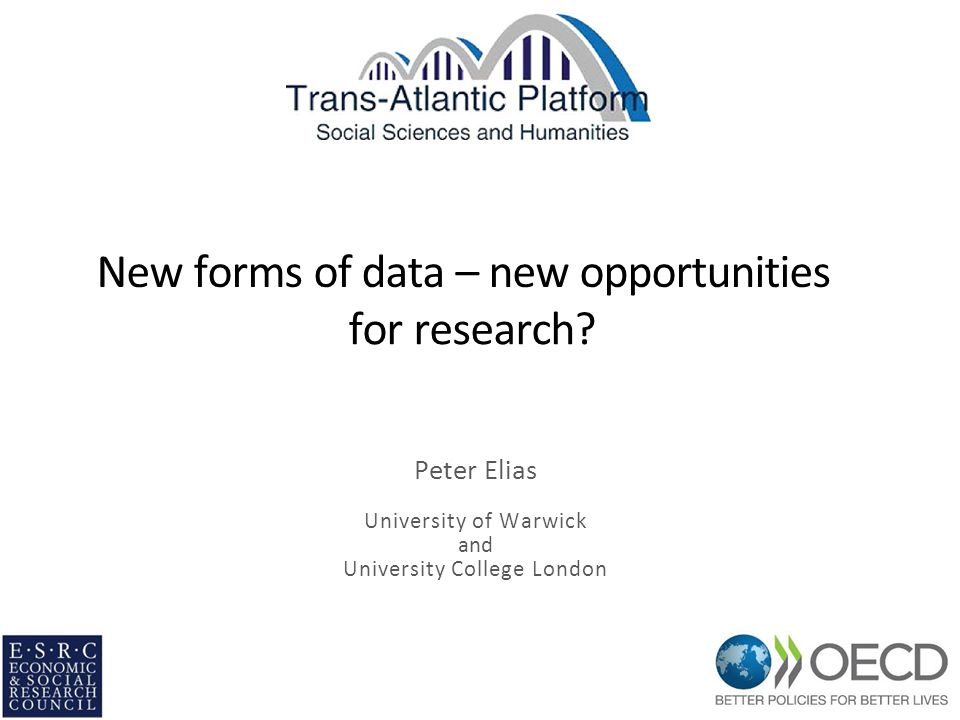 What do we mean by 'new forms of data'.What problems do they pose as research resources.