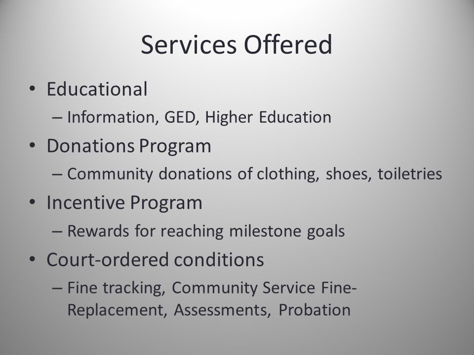 Why well-being services for individuals facing legal hardship.