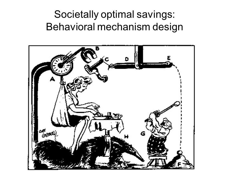 Societally optimal savings: Behavioral mechanism design