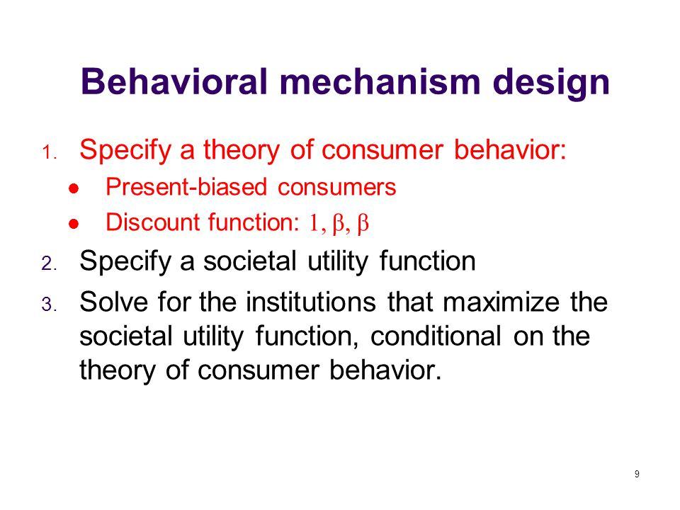 9 Behavioral mechanism design 1.