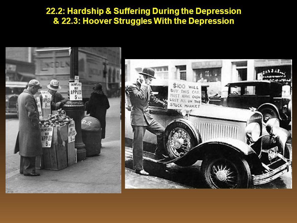 22.2: Hardship & Suffering During the Depression & 22.3: Hoover Struggles With the Depression
