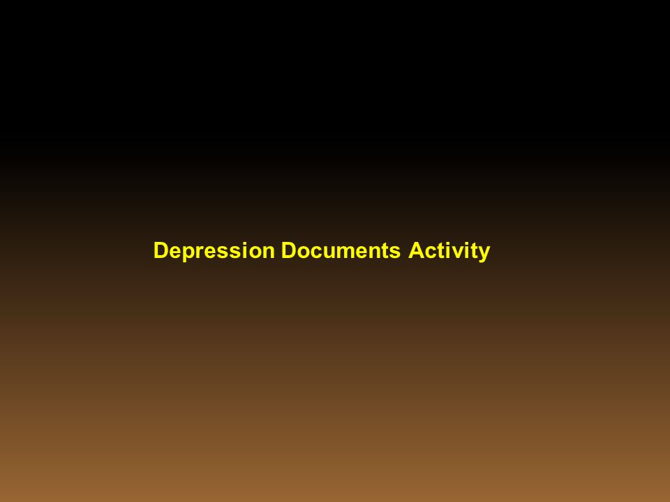 Depression Documents Activity