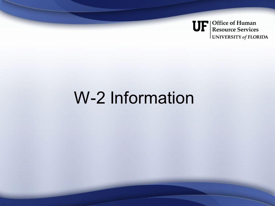 W-2 Information