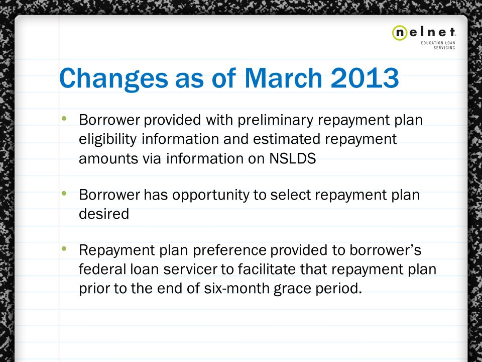 SERVICER OUTREACH TO BORROWERS