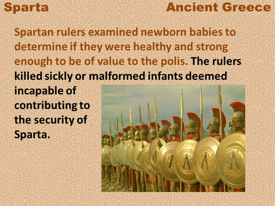 Sparta Ancient Greece The Spartans were Dorians who invaded the land they occupied on the Peloponnesus, a peninsula in southern Greece.