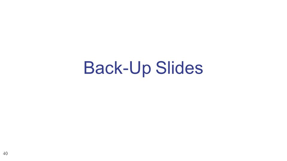Back-Up Slides 40