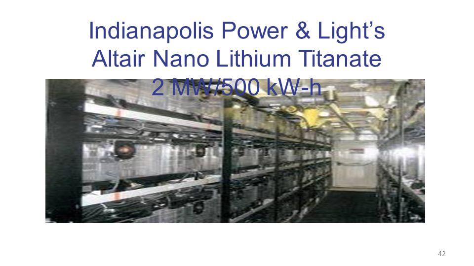 42 Indianapolis Power & Light's Altair Nano Lithium Titanate 2 MW/500 kW-h