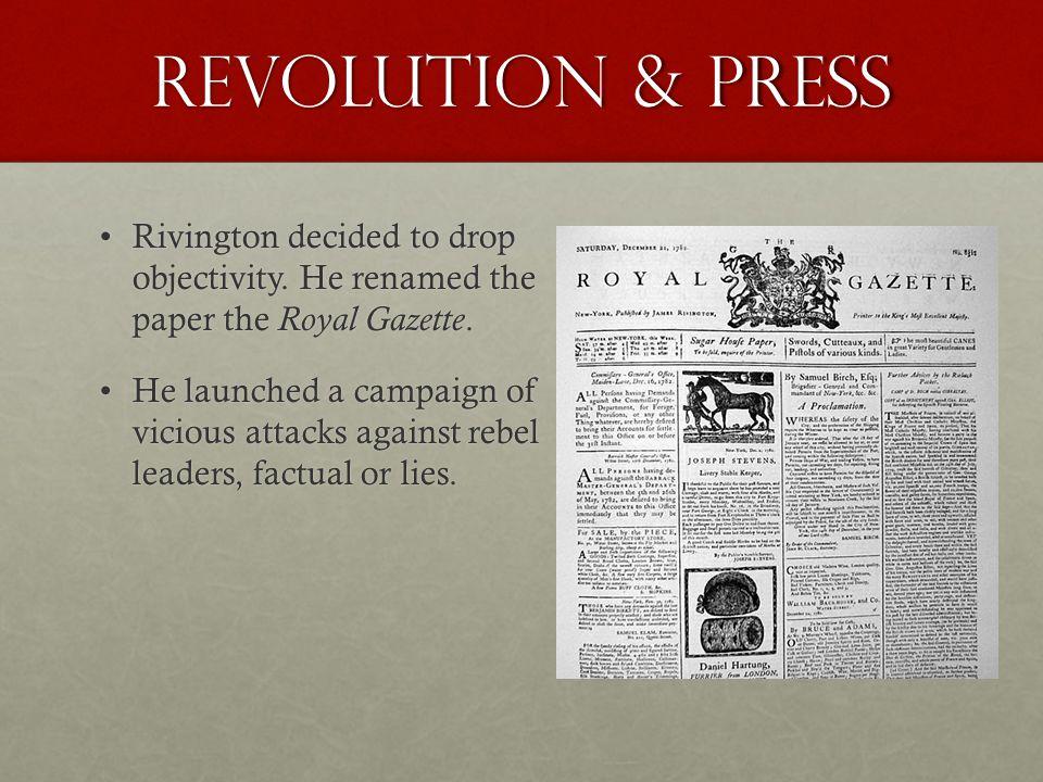 Revolution & Press Rivington decided to drop objectivity.