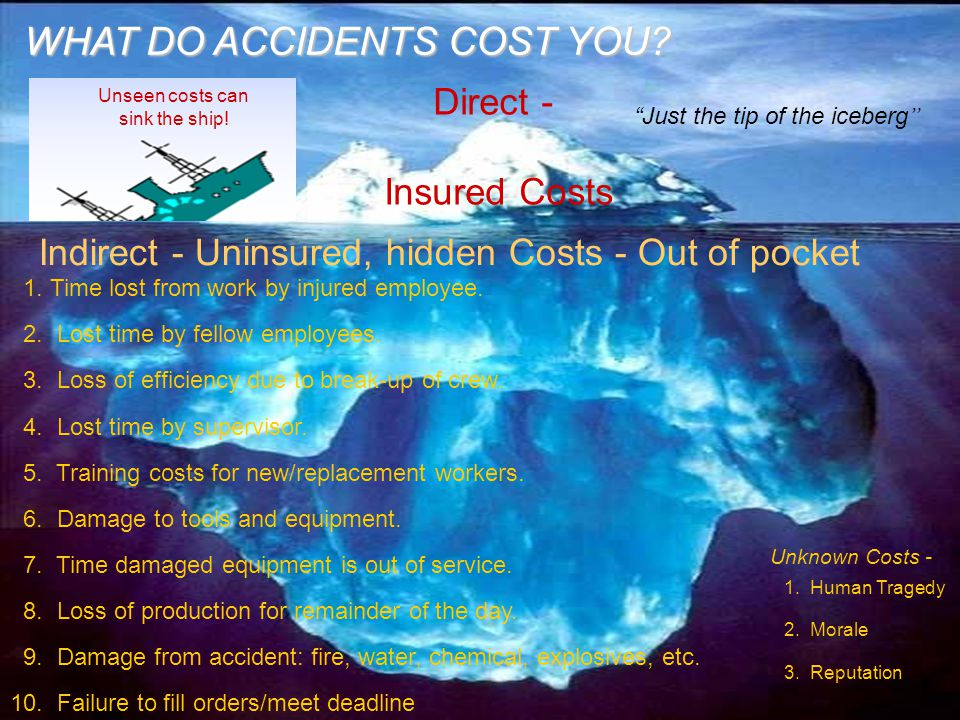 WHAT DO ACCIDENTS COST YOU.