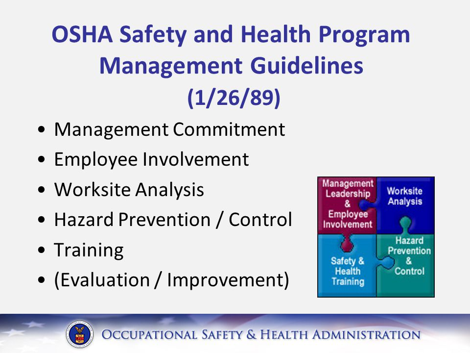 Pre Rule: I2P2 Proactive program to find and fix hazards Effective in reducing injuries, illnesses, fatalities 34 states and many nations around the world have such requirements