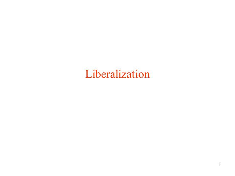 1 Liberalization