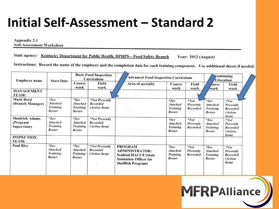 Initial Self-Assessment – Standard 2