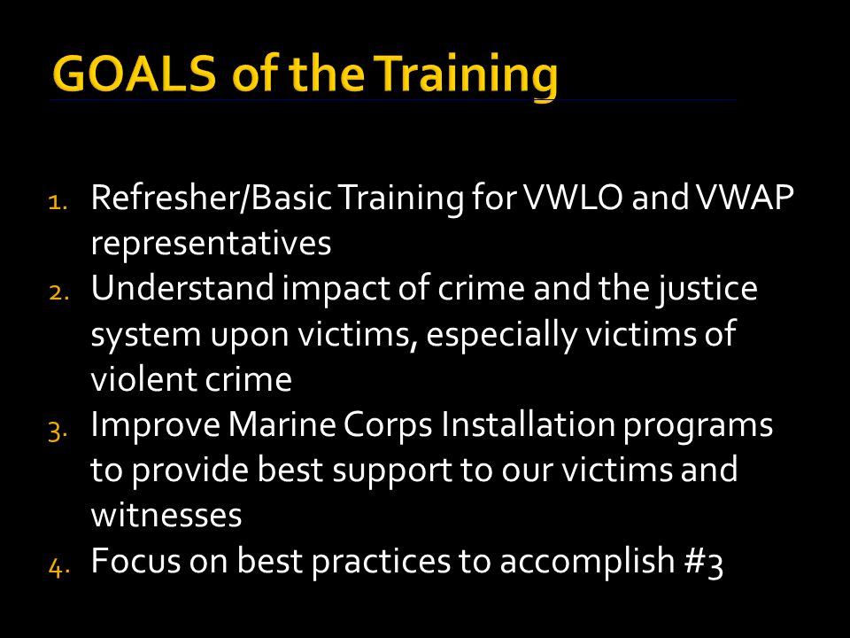  Role of victims/witnesses should be enhanced/protected  Do all that is possible to assist victims/witnesses without infringing on the rights of the accused  Particular attention should be paid to victims of serious, violent crime, including sexual assault, child abuse, and domestic violence.