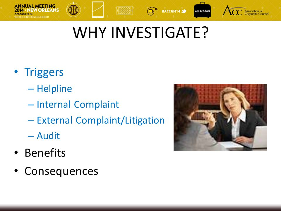 Akerman | 44  Regular business audits or investigations likely will not be protected  Must be created for a primary legal purpose vs.