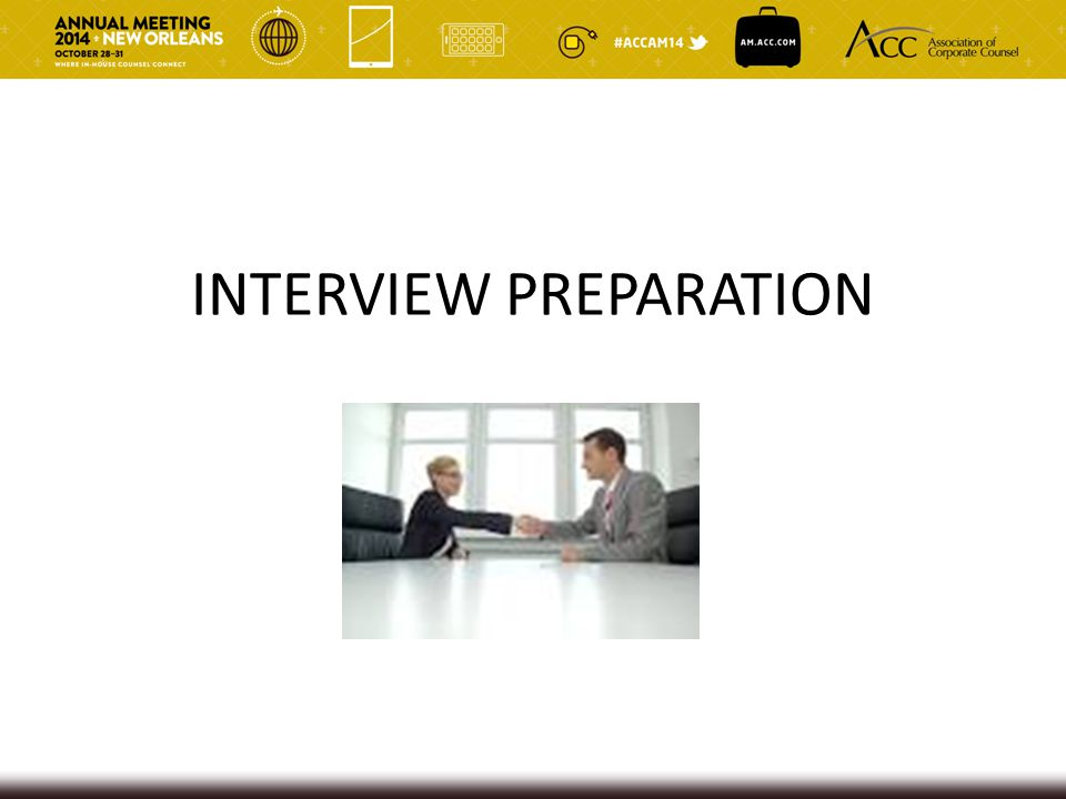 PREPARING FOR INTERVIEWS Who should be interviewed.