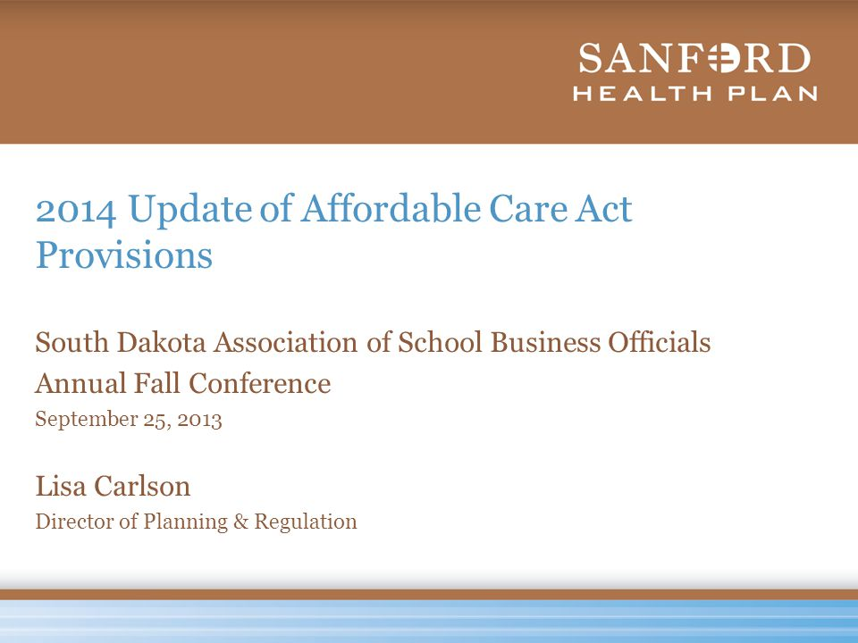 South Dakota's Federally Run Exchange www.healthcare.gov