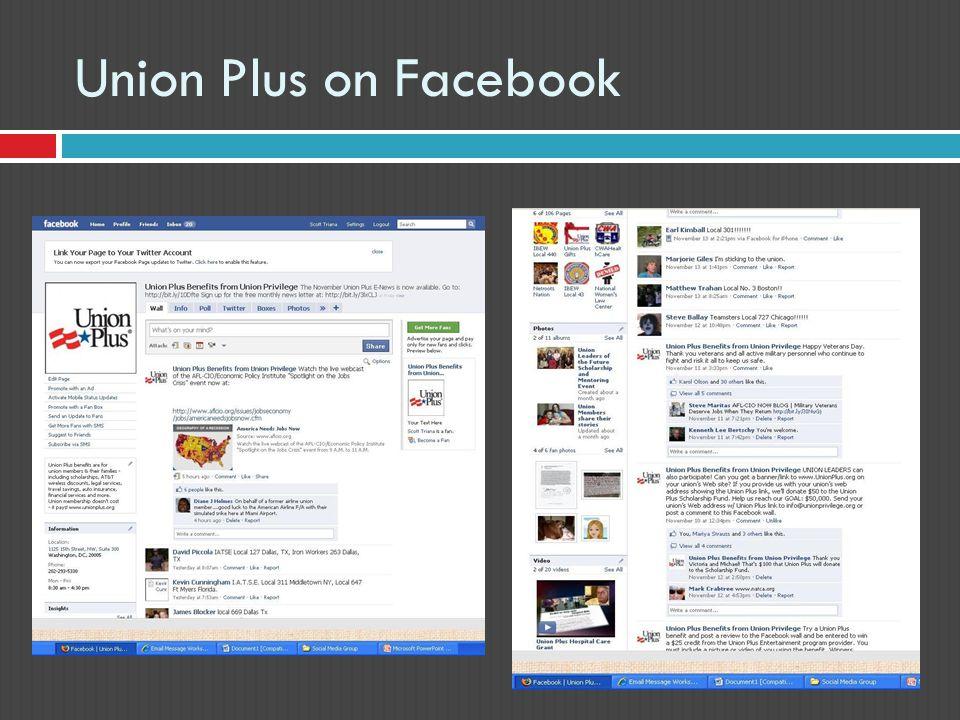 Union Plus on Facebook
