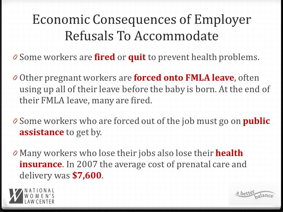 Pregnant Women Are Family Breadwinners 0 In 2006-2008, almost two-thirds of first-time mothers worked while pregnant, and over 80 percent of them worked into their last month of pregnancy.