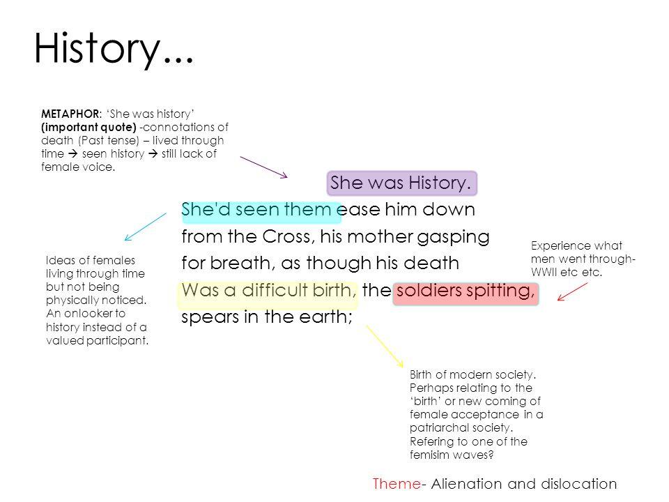 History... She was History.