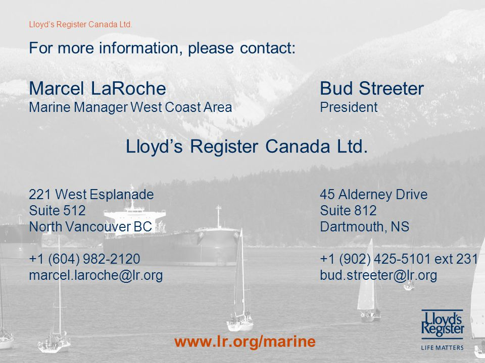 Lloyd's Register Canada Ltd.