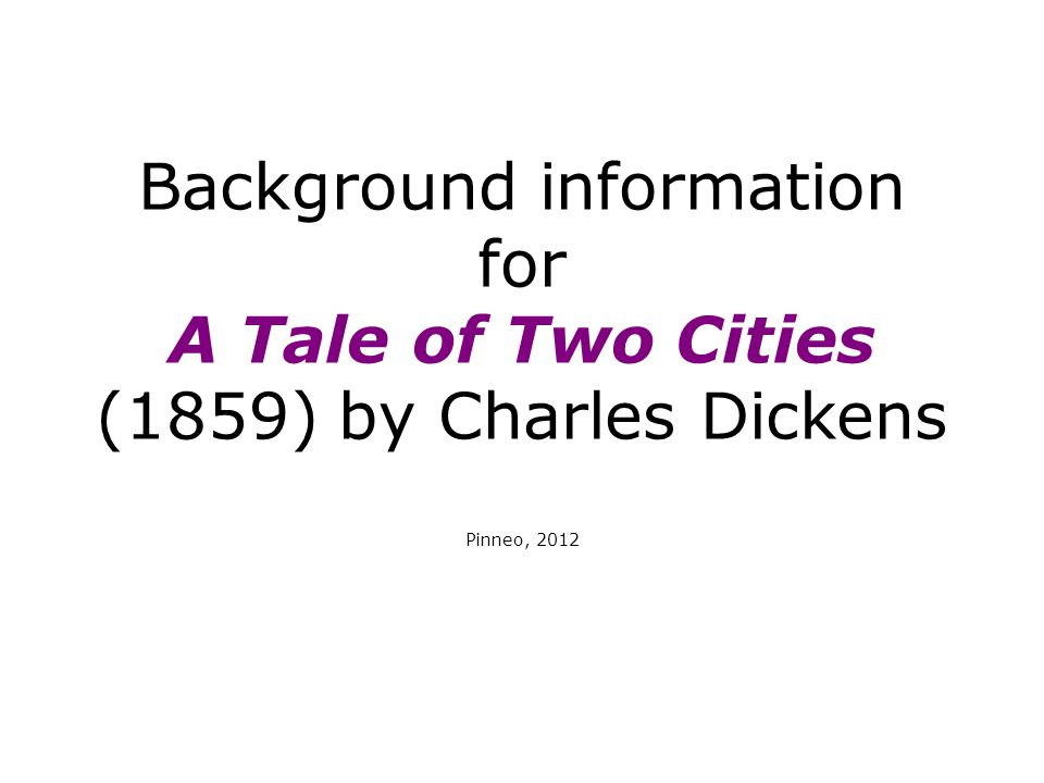 Charles Dickens (1812-1870) Dickens came from a lower-middle class family, where he enjoyed a relatively enjoyable boyhood When Dickens was 12, his father and then the rest of his family was thrown in debtors prison, so without them Dickens was forced to work in a shoe polish factory, a run down building full of rats, which Dickens compared to a living grave Dickens' experiences with poverty and hardship early in life account for his sympathy with the poor and working classes in most of his novels Dickens didn't receive a formal education until he found a job as a law clerk at the age of 15, and his success came when he began publishing serials, or small portions of narratives as continuing series By 1859, when ToTC was first published, Dickens was the most popular British author of the time
