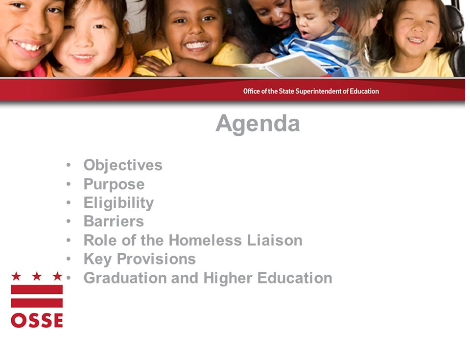 Local Homeless Education Liaisons ResponsibilitiesResponsibilities –Ensure that children and youth in homeless situations are identified –Ensure that homeless students enroll in and have full and equal opportunity to succeed in school –Link with educational services, including preschool and health services 13