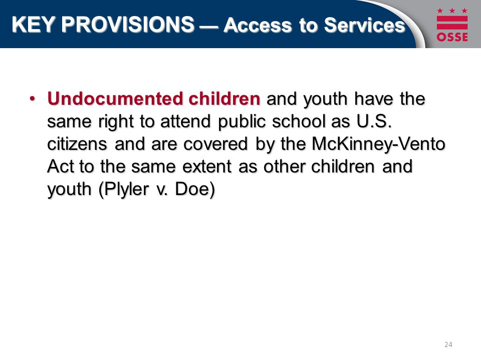 Undocumented children and youth have the same right to attend public school as U.S.