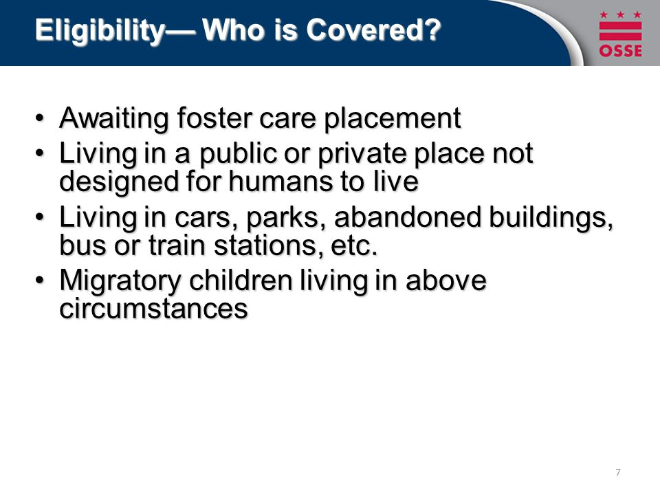 Eligibility— Who is Covered.