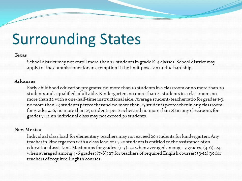 Oklahoma Exemptions 85% of maximum allowable bonds Collecting the maximum allowable millage Lack of classrooms