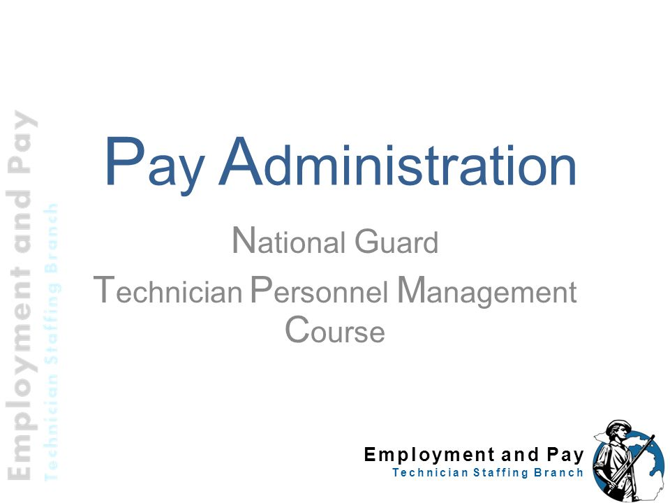Employment and Pay Technician Staffing Branch Special Pay GS Night Pay Differential Regularly scheduled work between 1800- 0600 Basic pay + 10% of basic pay Paid only for regularly scheduled hours actually worked at night Not used to calculate overtime, Sunday or holiday pay 52 5 CFR 550.121