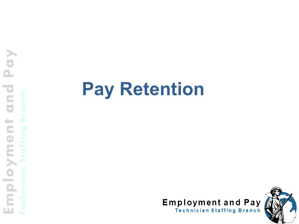 Employment and Pay Technician Staffing Branch Pay Retention 41