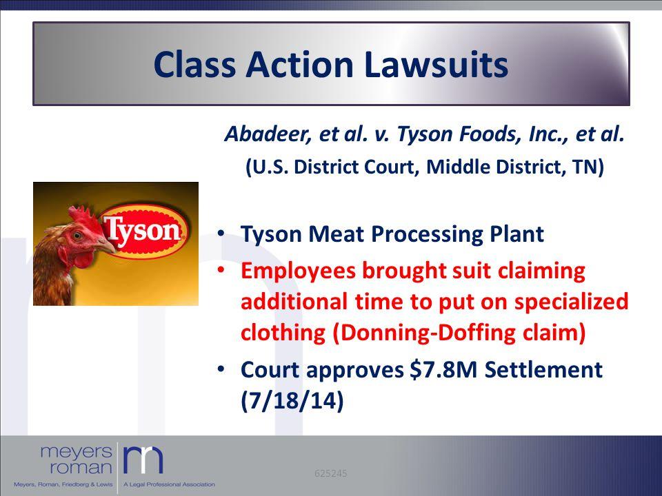 Abadeer, et al. v. Tyson Foods, Inc., et al. (U.S.