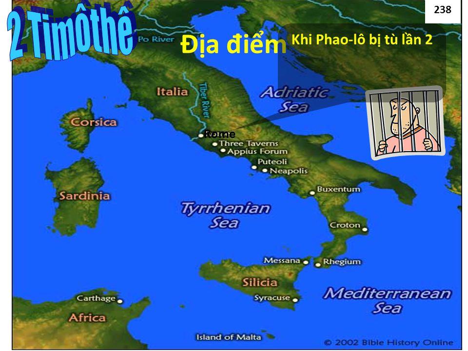 Rome Địa đ iểm Khi Phao-lô bị tù lần 2 238