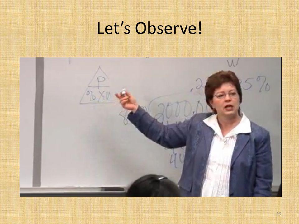 Let's Observe! 19