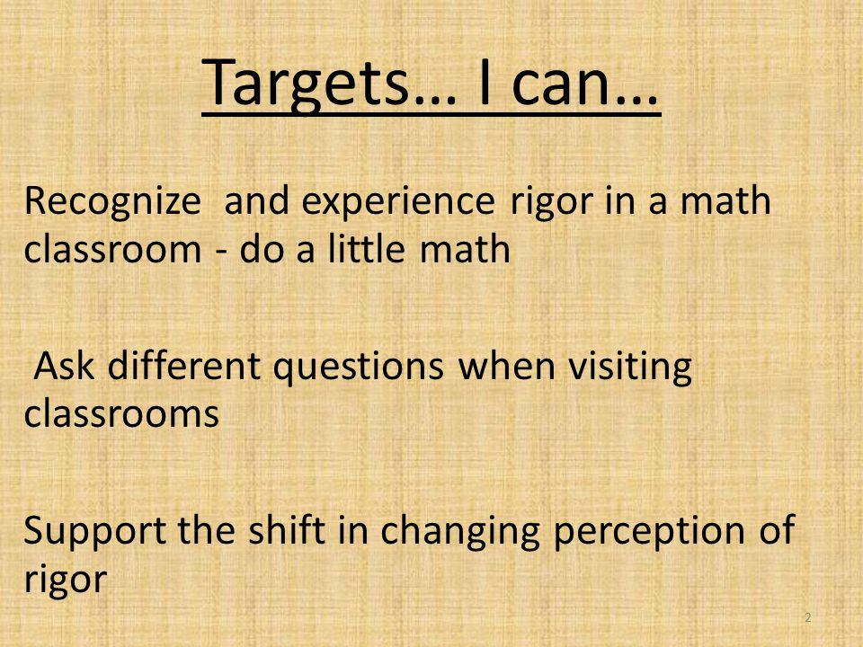 How do we change rigor in our schools? 23