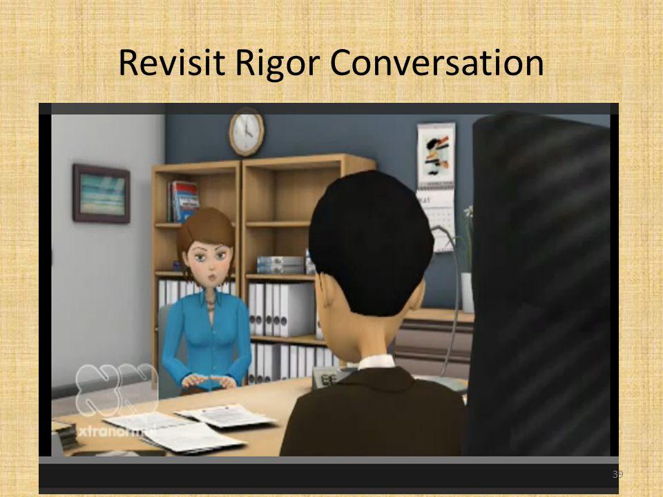 Revisit Rigor Conversation 39